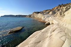 Cantís brancos - White cliffs (Gato M) Tags: sicilia italia scale dei turchi cliff cantís acantilado mar mediterraneo sunset solpor isla