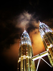 Living A Life Is Like Constructing A Building If You Start Wrong, You'll End Wrong. (JourneyToNoWhere) Tags: kl petronastwintower bluelist 20060412nagenfarewellwithkazzielahandliyin perfectskyshot