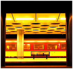 Underground (roomman) Tags: holland art netherlands amsterdam train bench underground airport belgium ns first tunnel 2006 transportation schiphol ams firstclass eham benelux nederlandse nederlandsespoorwege spoorwege beneluxtrein beneluxtrain