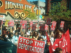 No One Is Illegal  National Day of Action - Toronto March, Saturday May 27, 2006 - 010 (HiMY SYeD / photopia) Tags: people toronto march civilrights socialjustice workersrights nooneisillegal immigrantrights