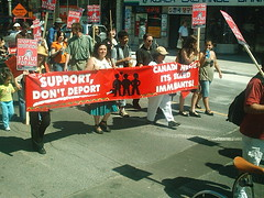 No One Is Illegal  National Day of Action - Toronto March, Saturday May 27, 2006 - 038 (HiMY SYeD / photopia) Tags: people toronto march civilrights socialjustice workersrights nooneisillegal immigrantrights