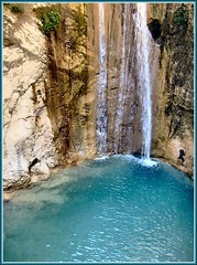 Lefkada (MvHulst) Tags: blue holiday water vakantie waterfall greece lefkas nidri griekenland waterval lefkada interestingness481 mvh  joy23