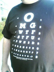 Randy wears cool shirts.  That is all (ernie) Tags: moblog tshirt randyfarmer stfu wtf omg pwn3d eyechart uran00b lmaorotf kthxbyep