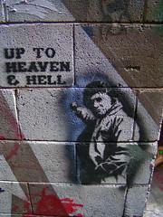 Croft Alley (littlegirllost) Tags: street streetart stencils color art graffiti stencil alley chinatown graf australia melbourne cash croft lane johnny laneway johnnycash croftalley alleys lanes maninblack satta 11062006 paynesplace