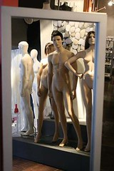 """Mirror in Bilbao Mannequin Store (You Can Call Me """"Sir"""") Tags: woman man reflection mannequin nude mirror spain bilbao"""