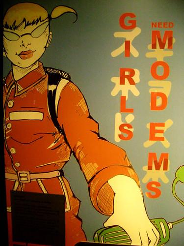 Girls need modems