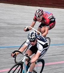 racing at Meadowbank Velodrome