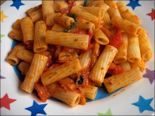 Pasta with Pepper Relish