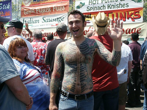 tattooed guy. Happy Tattooed Guy