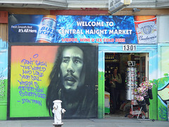 Bob Marley mural on Haight street - by Franco Folini