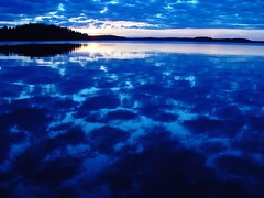 Kyrosjrvi (Finland) (northmanimages) Tags: blue sunset sky reflection water clouds finland landscapes bravo lakes hmeenkyr waterscapes sunscapes saveit10 amazingviews savedbythedmusunscapesgroup10straight top20finland