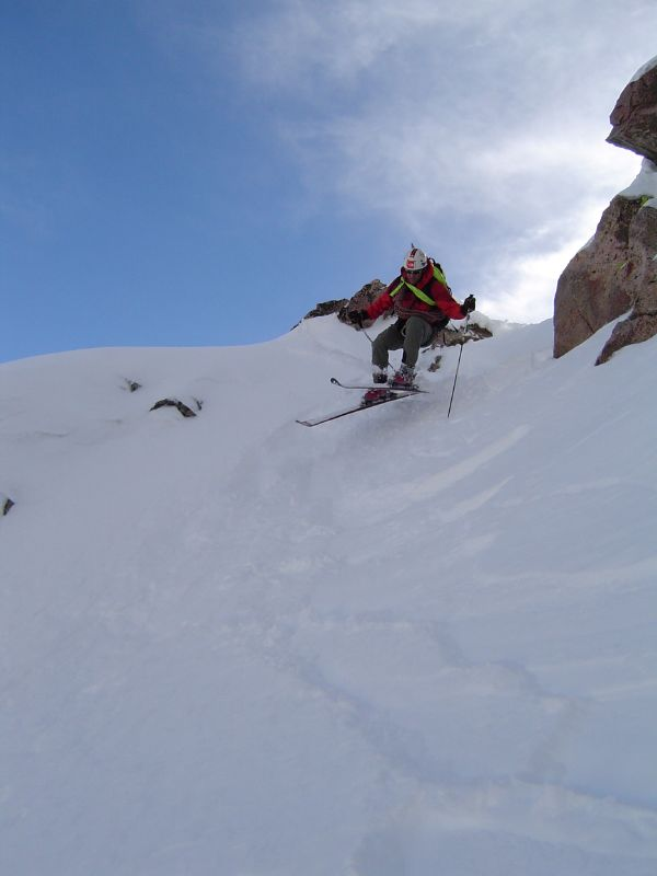 Reed Finlay commits to the Hidden Couloir