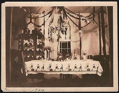 halloween 1924 (carbonated) Tags: party halloween vintage table photo decoration photograph diningroom streamers centerpiece setting 1924