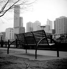 Southbank (thescatteredimage) Tags: tlr film topv111 mediumformat lomo melbourne expired lubitel166b iso160 kodakportra flickrwalk july06 123bw 5hits