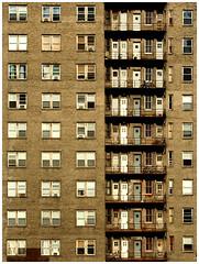 urban living (paul drzal) Tags: windows philadelphia metal downtown terrace centercity balcony bricks bikes laundry philly spruce utopia parkinglotshots viewsfromaparkinggarage parkinggaragephotos viewsatopaparkinggarage