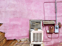 air conditioner. boron, ca. 2006. (eyetwist) Tags: california pink hot wall desert 2006 airconditioner mojavedesert boron hotpink thehighdesert eyetwist contactforstockusage thisimagemaybeavailableforlicensecontactformoreinfo
