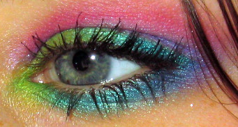 Rainbow eyeshadow design