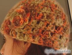 Gorro (Topita) Tags: lana punto crochet flor agujas tejer ganchillo matizada