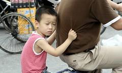Long way home (Alex Vinter (aka Wam Mosely)) Tags: china street summer bike person kid child shanghai chinese kiss1 festivalparis festivallondon