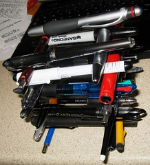 tower pencils stack pile pens penpencilbrushink heap pilot uniball lamy pentel rotring