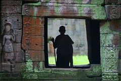 Shadow of a monk in an alley of Angkor, Cambodia (Eric Lafforgue) Tags: shadow window temple asia cambodge cambodia kambodscha khmer khmers monk angkorwat phnompenh asie angkor indochine indochina cambodja kambodia kemboja kamboja kambodsja kambodja  camboya  kampuchea camboja templesofangkor cambogia 9790  lafforgue kambodzsa ericlafforgue siemraep lafforguemaccom mytripsmypics  ericlafforgue kamboda  kamboo   kamboya jinpzhi  wwwericlafforguecom kamboda  caomin kamboiy kambodiya