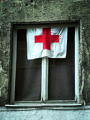 red cross (debleau) Tags: street red window geotagged 2006 slovakia bigcalm bratislava redcross geo:tool=gmif geo:lat=48147956 geo:lon=17115197