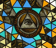 Stained Glass Panel, Eye-Catcher