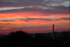 Sunset with Monument (melanie.phung) Tags: sunset washingtondc monuments washingtonmonument melaniephung abigfave
