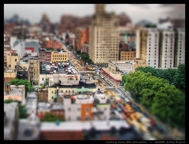 Looking down 8th (tilt-shift)