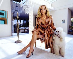 Four days in LA: The Versace Pictures, 2001 (David Barrie) Tags: fashion advertising losangeles furcoat poodle blonde bling versace meisel georginagrenville lorigoldstein