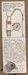 Birdfeeder 1 of 3 (renmeleon) Tags: bird moleskine nature squirrel journal ria renmeleon renfolio
