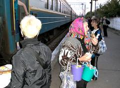 women_train (brendieiniceland) Tags: food train russia kiev babushka ukrainebelarus