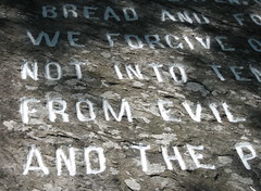 Lord's Prayer rock, detail