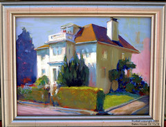 bates house painting (rudisillart) Tags: california portrait house painting landscape oakland gallery paintings badge oil oilpainting impressionistic blurb pleinair oaklandish rudisill cotcpersonalfavorite moocard pochade bateshouse