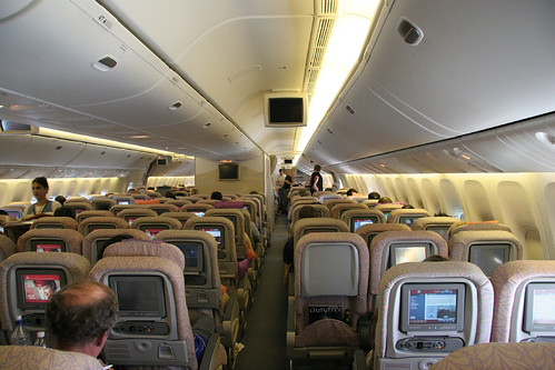 Taken from the back 10 abreast 777 seating