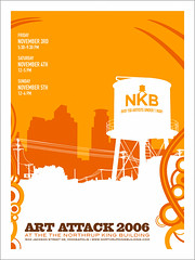 Art Attack 2006 Poster (tubes.) Tags: november art poster screenprint tubes minneapolis event northeast artattack artcrawl seantubridy upcoming:event=106452