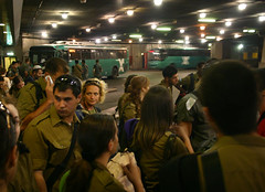 Bus soldiers (The Common Language Project) Tags: lebanon soldier israel war idf eggedbus