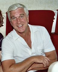 Leslie Nielsen (on an airplane)