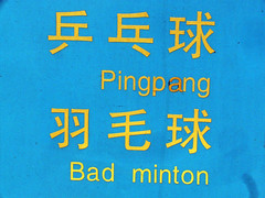 Pingpang and Bad minton (xiaming) Tags: sign interestingness bad pingpong engrish chinglish badminton liaoning tieling