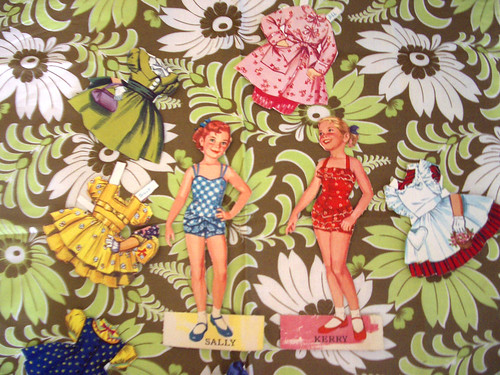 1950's paper doll por bellybuttons boutique.