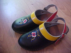 Thrifted Hannah Anderson wooden clogs!!!! (katiek2) Tags: fun store shoes books felt thift