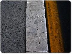 Paralellismo urbano (Suomi2005) Tags: road urban abstract black texture yellow contrast grey strada grigio flag stripe gimp line giallo minimalism parallel minimalismo astratto asfalto nero guccini strisce nomentana suomi2005 yfav