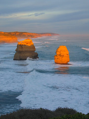 glowing coastal apostles (gervo1865_2 - LJ Gervasoni) Tags: ocean water weather rock wave australia victoria erosion coastal limestone features geological apostle shipwreckcoast photographerljgervasoni