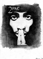 Tupac (ladyLara ( Laura Blc )) Tags: portrait people bw man laura celebrity art lines pencil sketch blackwhite artwork handmade drawing drawings line romania 2pac myart actor portret tupac cluj arta myway desen creion schita ladylara laurabalc laurablc blc celebritydrawings