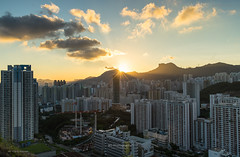 Kowloon Cityscape. (bgfotologue) Tags: 2016 500px afterglow bgphoto brust cityscape crepuscularrays crowding擠迫 east estate evening glow hk hongkong housing image kowloon kowloonbay landscape lightup lionrock night outdoor photo photography sunset bellphoto 九龍 九龍灣 反 反曙 反曙暮輝 城市 夜 夜景 太陽 彩虹邨 彩雲邨 戶外 攝影 日落 東九 港 獅子山 獅子石 都市 雲隙光 風景 香港 黃昏