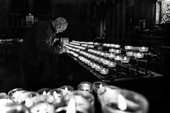 Devotion - Devozione (EXPLORED) (savolio70) Tags: devotion devozione fedele preghiera prayer prayers preghiere savolio stefanoavolio blackwhite bw blackandwhite monocromo biancoenero bianconero candele candles faithful