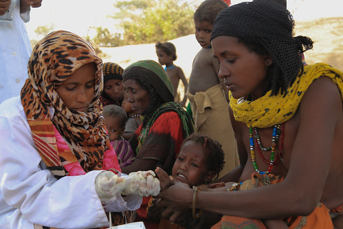 Aysha Nur a mother of four is receiving a medical treatment for her child