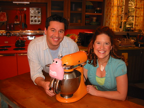 Cathie and Steve with Pink Craftie on the Creative Juice set
