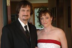 The New Couple (Matt, just Matt) Tags: wedding groom bride necklace earrings shoulders tux strapless clavicles mattrobertson