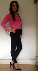 Ready For A Night Out x (Priya Lloyd) Tags: pink hot sexy pose tv pretty cd smooth makeup tranny transvestite lipstick trans crossdresser priya crossdress